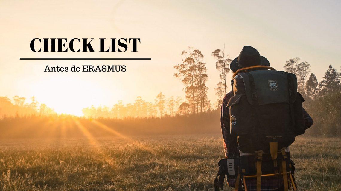Check-list   Antes de ERASMUS